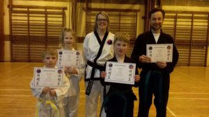 Colour belt grading success at Bridgnorth