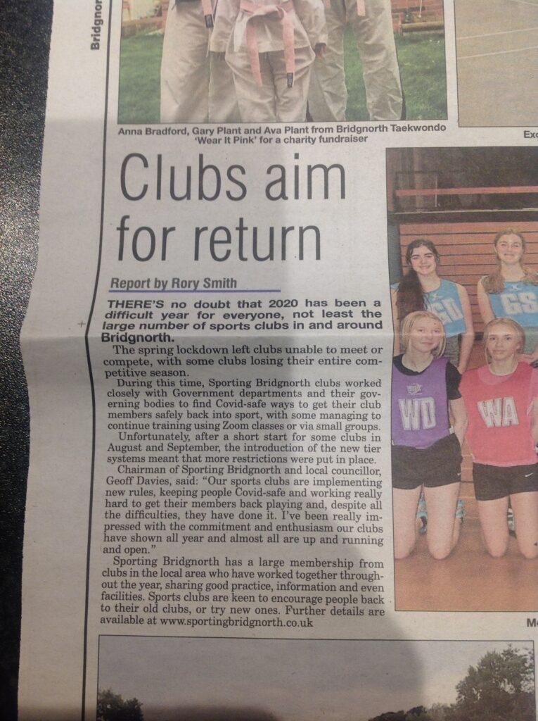 Sporting Bridgnorth Article